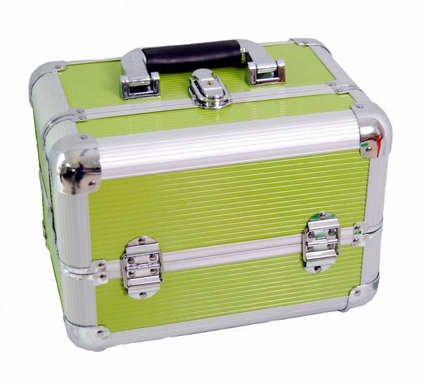 Beauty case make up nail art dynasun bss35 verde xxl - Valigia porta vinili ...